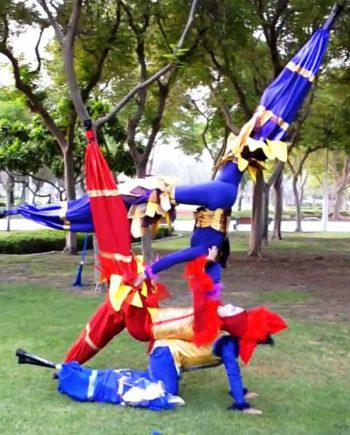Acro-stilt performers in Dubai