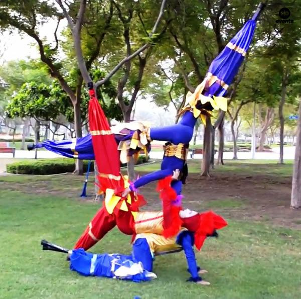 Acro-stilt performers for promotions