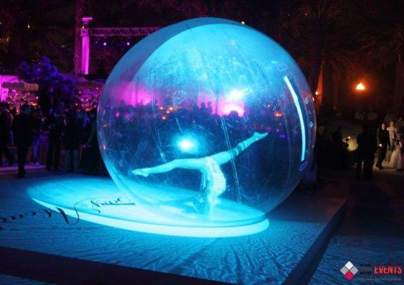 Acrobat in the bubble for corporate events