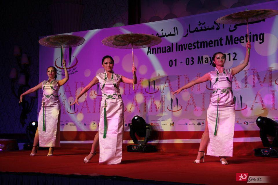 Chinese umbrella dance for weddings