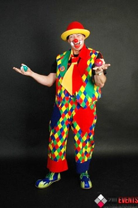 Clown for themed party