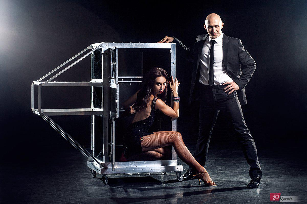 Dancing illusion show for product launches