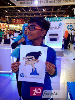 Digital caricatirist for children's events