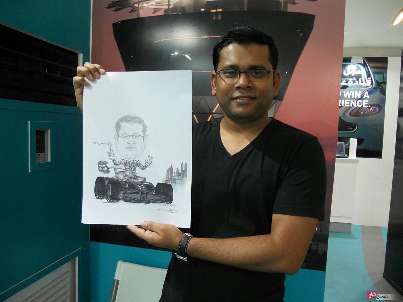 Digital caricatirist for exhibitions