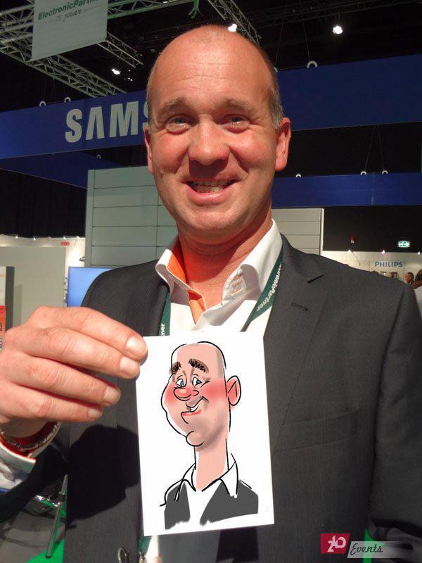 Digital caricatirist for corporate events