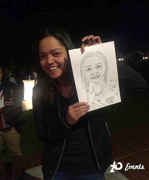 Female caricaturist for corporate events