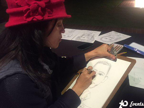 Female caricaturist for wide range of events