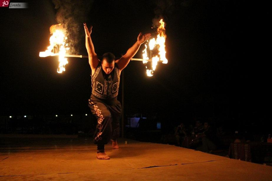 Fire show for street events
