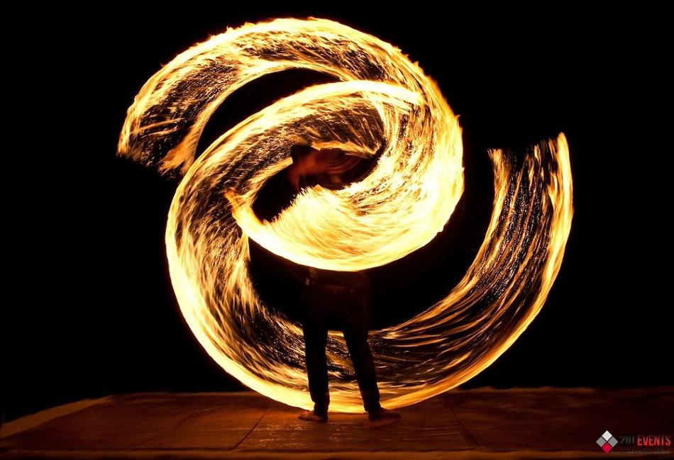 Fire show for themed events