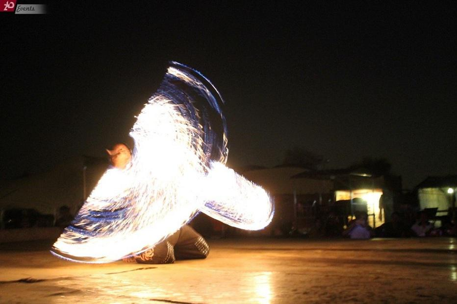 Fire show for corporate events