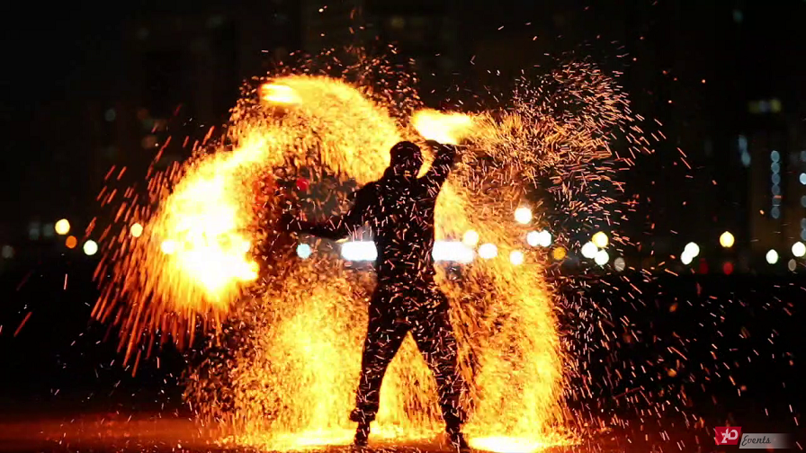 Flaming show for corporate event