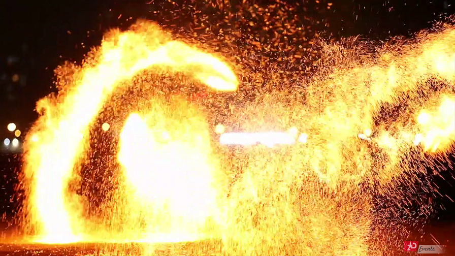 Flaming show for product launches