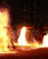 Flaming show in Dubai
