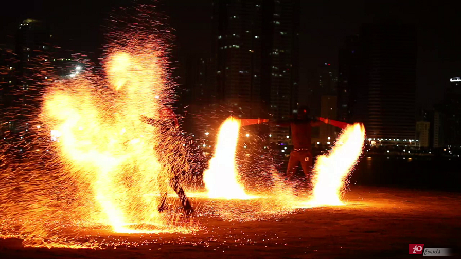 Flaming show for private party