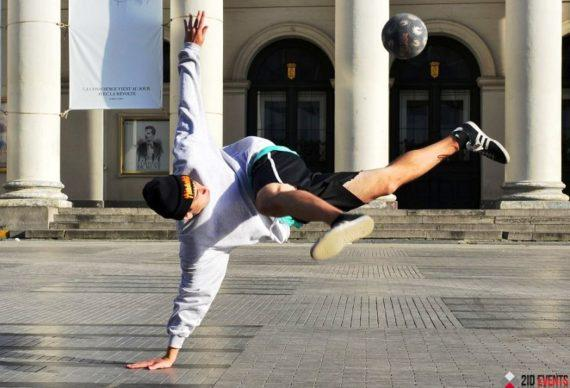 Football freestyle for promotions