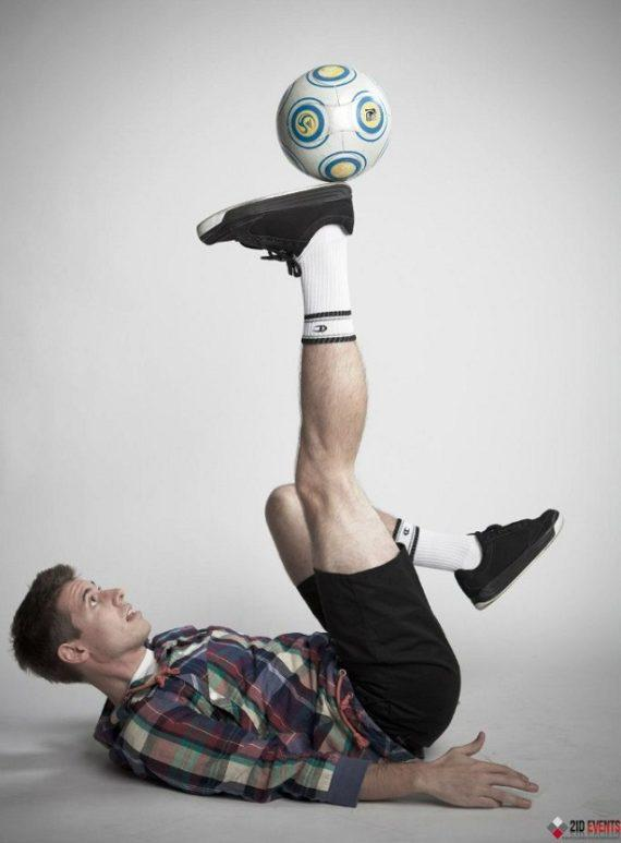 Football freestyle for product launches