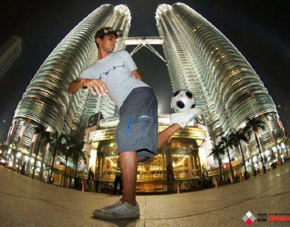 Football freestyle for sport events