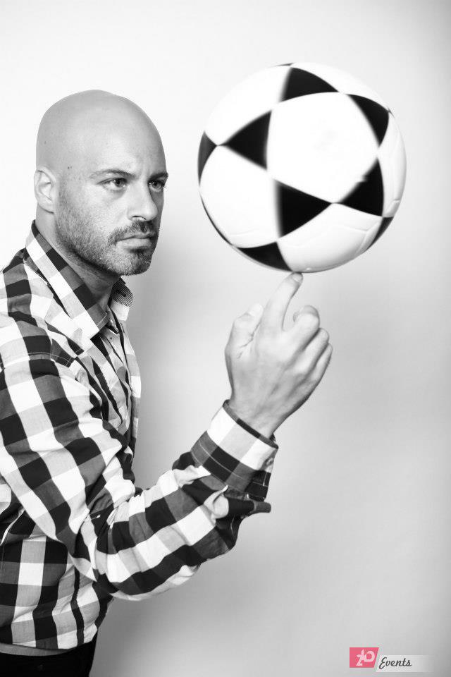 Football juggler act for promotions