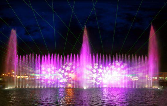 Fountain show for weddings