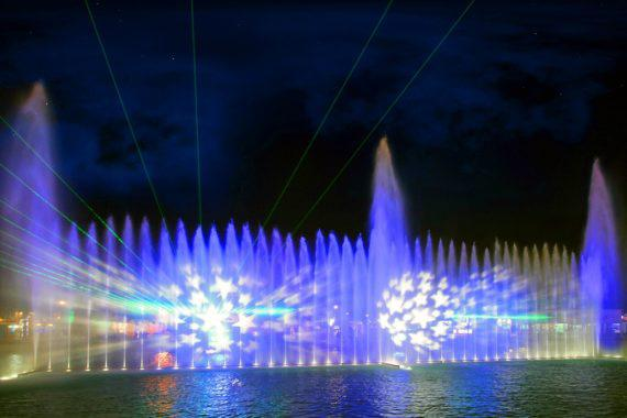 Fountain show for public events