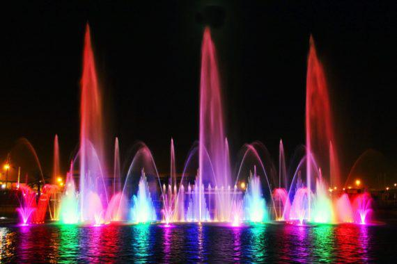 Fountain show for ceremonies