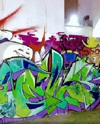 Graffiti art in Dubai