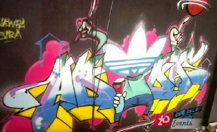 Graffiti art for outdoor occasions