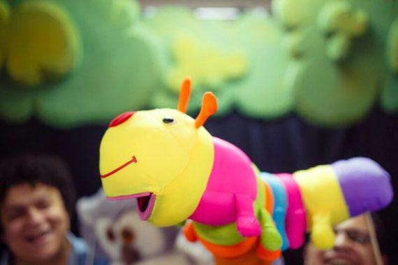 Kid`s puppet show for themed party