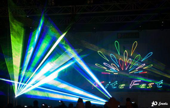 Laser show for product launches