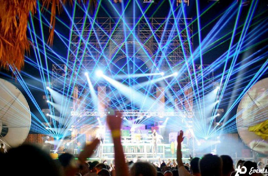 Laser show for festivals