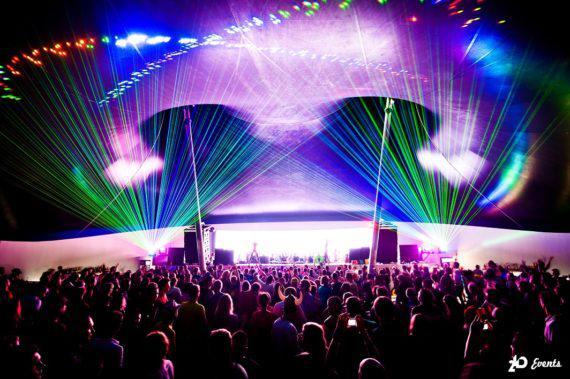 Laser show for concerts