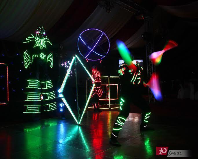 LED juggler for kid`s events
