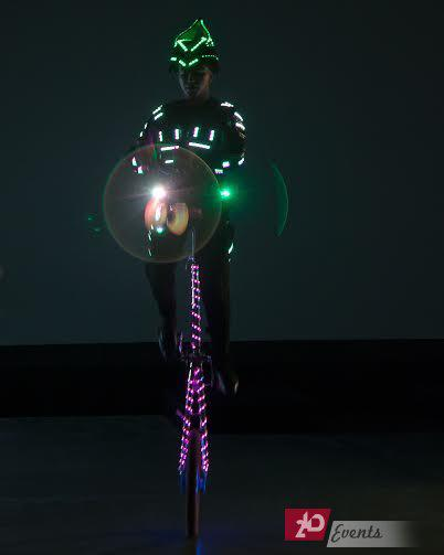 LED juggler for themed parties