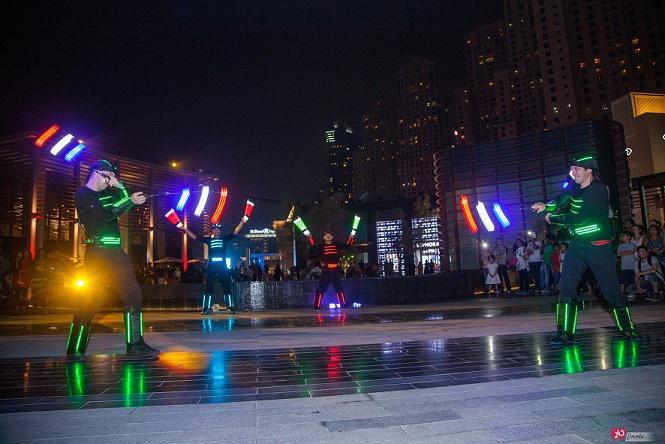 LED juggler for festivals
