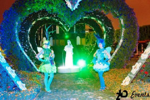 Live fountain for festivals