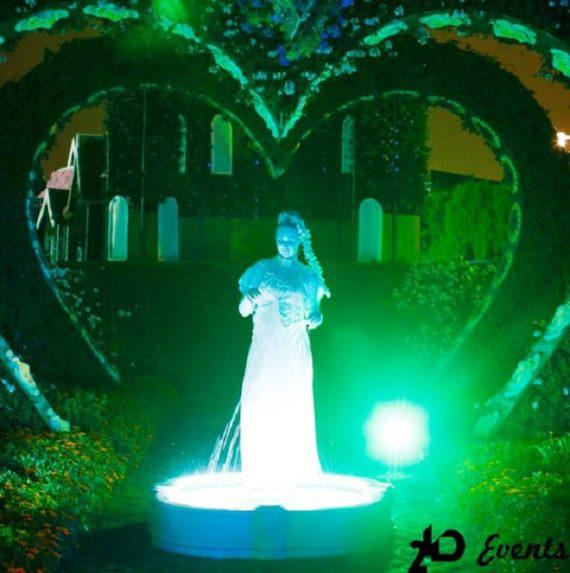 Live fountain for weddings