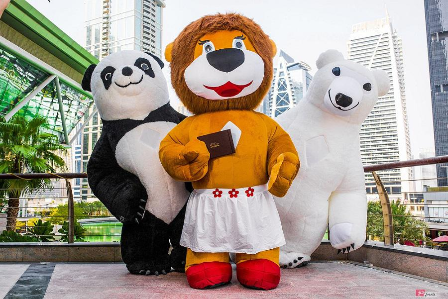 Mascots – inflatable characters for product launches