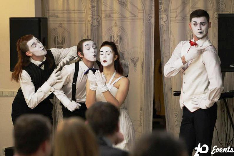 Mime group for corporate events