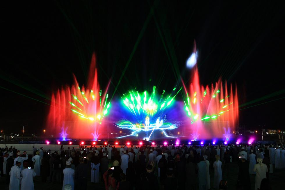 Multimedia show for public events