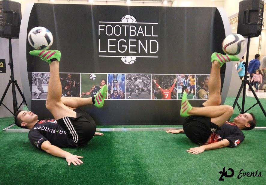 Promotion act football freestylers for product launches