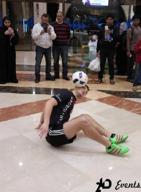 Promotion act football freestylers for mall activities