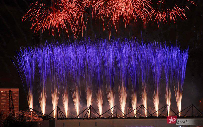 Pyro fountains for product launches