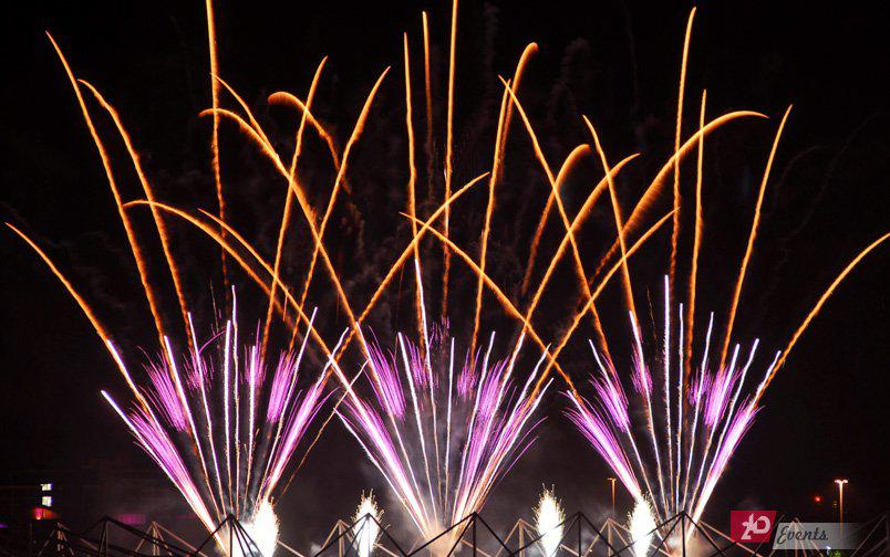 Pyro fountains for festivals