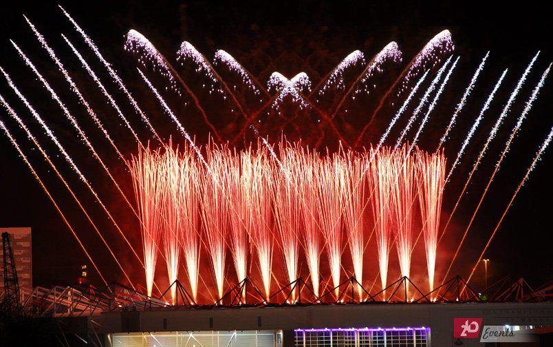 Pyro fountains for corporate events