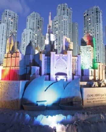 Sand sculpture in Dubai