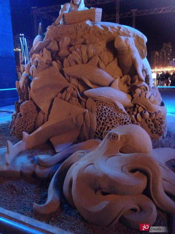 Sand sculpture for promotions