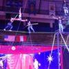 Slackline acrobatic act in Dubai
