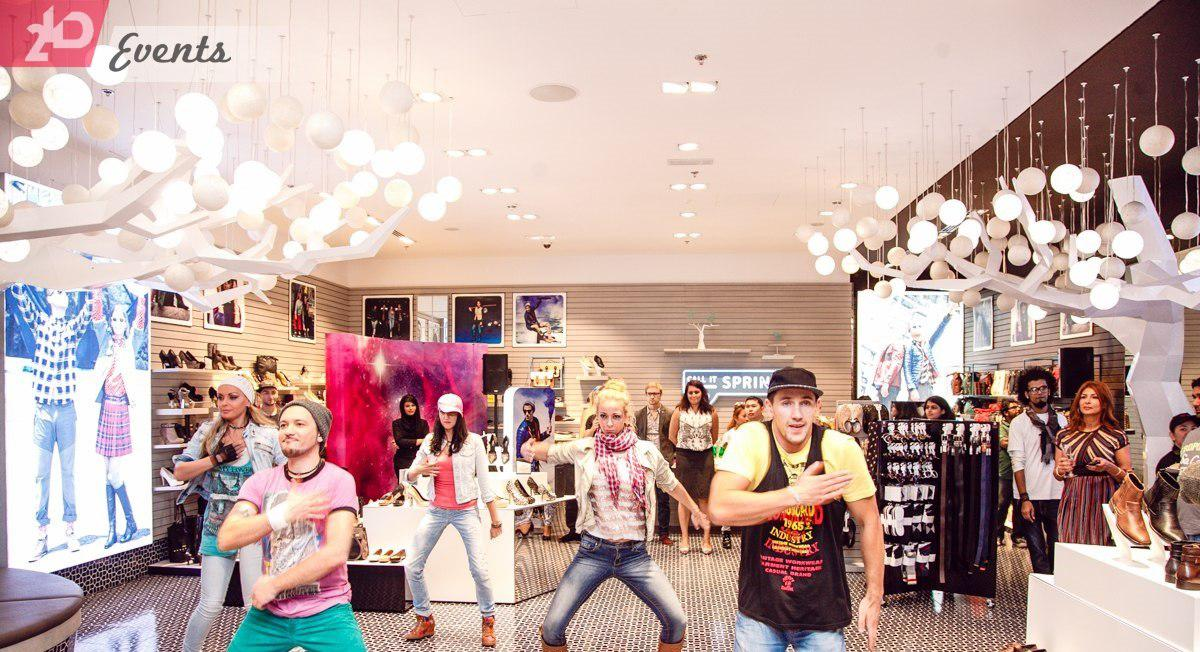 Small flash mob for promotions