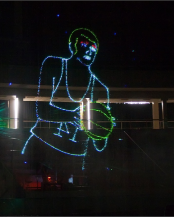 Animated laser show in Dubai