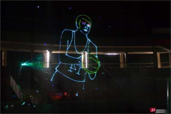 Animated laser show for corporate events